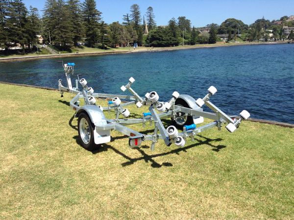 4.8M Rollered Boat Trailer