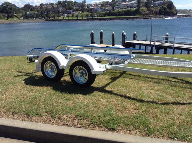 5.4M Boat Tandem Axle Trailer with NEW PLASTIC GUARDS