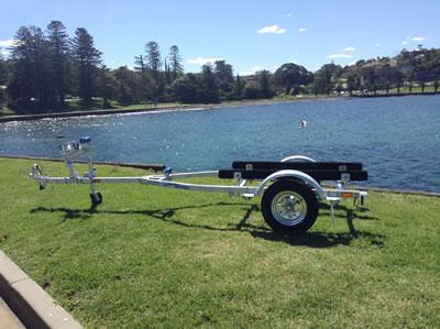 Trailer for boats up to 3.75M, kayaks, jetskis, stand up jetskis